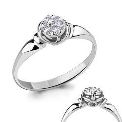 Inel de logodnă din aur ACVAMARIN art 963704.2